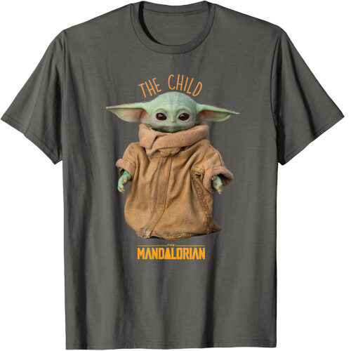 camiseta bebe yoda gris